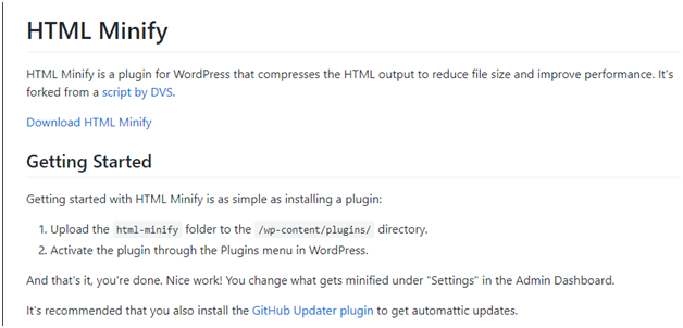 html minify