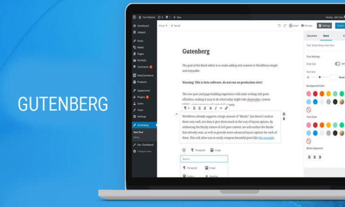 Gutenberg WordPress Update