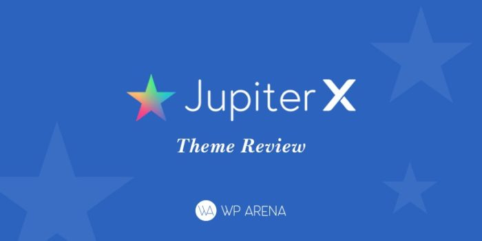 A design for Jupiter X theme review