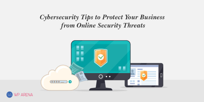A featured image for cybersecurity tips tp protect your business from online security threats
