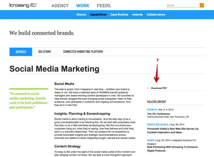 A social media marketing post with content