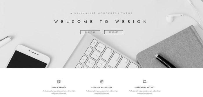 A homepage of a portfolio website