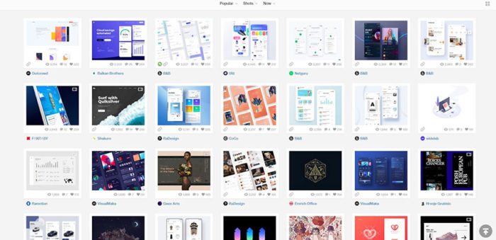 A snapshot of a website with thumbnails