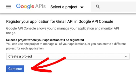 create gmail project