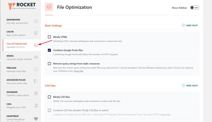 static file optimization
