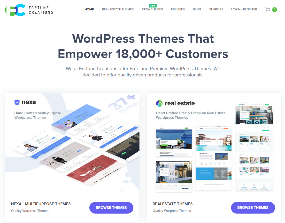 Fortune Creations WordPress themes screenshot