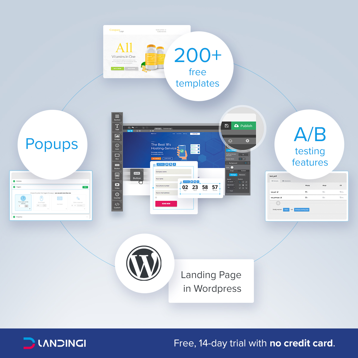Landingi WordPress screenshot