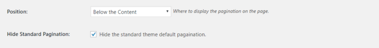 WP-Pagination Position