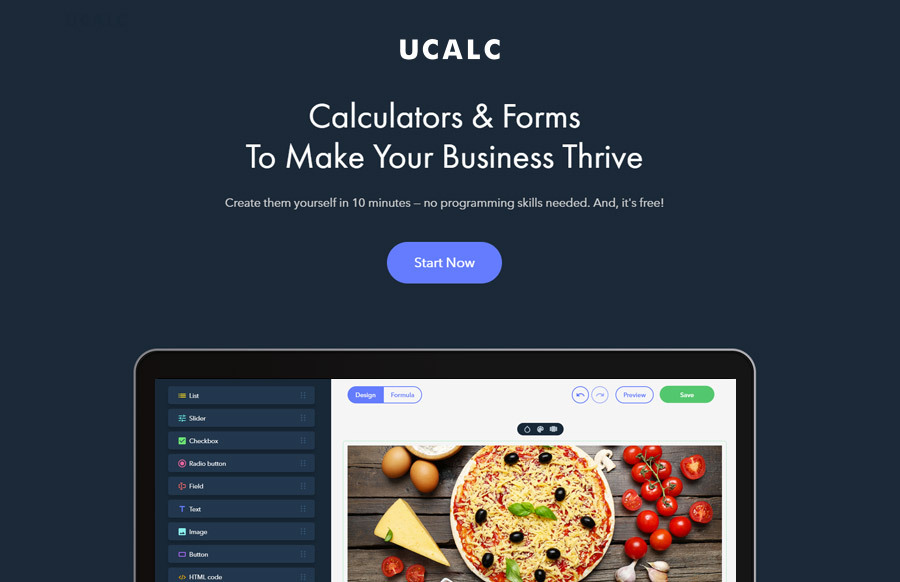 uCalc for making forms