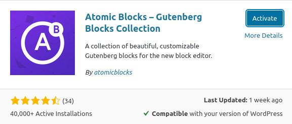 activate atomic blocks