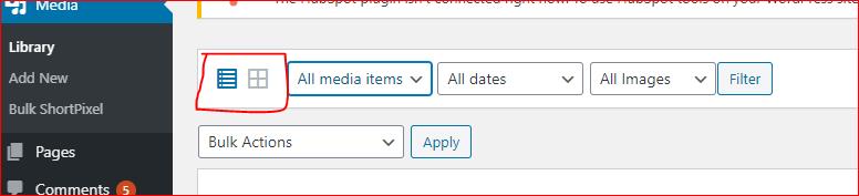 Media Library Bulk Actions in WordPress