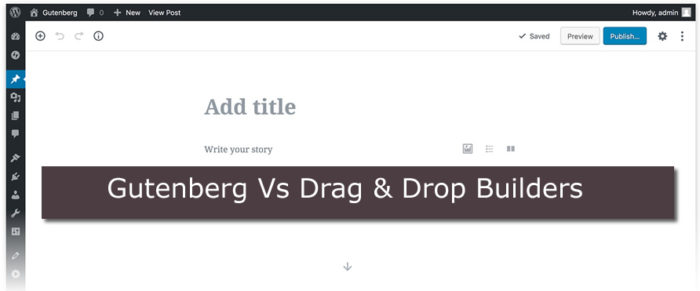 gutenberg vs drag and drop